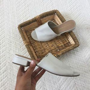 Christian Siriano White Mule Sandals